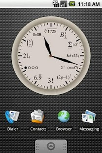 Geek Clock Large Widget 4x3 - screenshot thumbnail