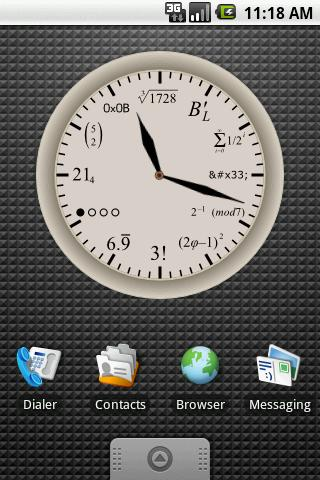 Geek Clock Large Widget 4x3 - screenshot