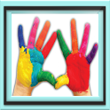 Best kids finger paint doodle icon