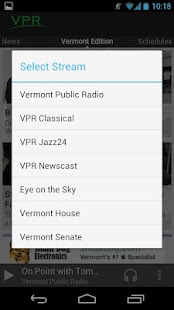 VPR Android App - screenshot thumbnail