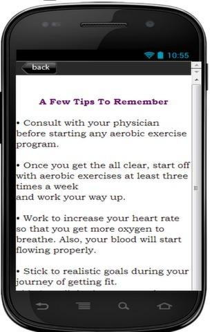Aerobic Exercise Tips For You - screenshot