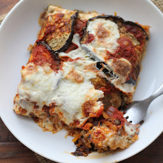 Eggplant, Mozzarella and Saffron Rice Bake Recipe