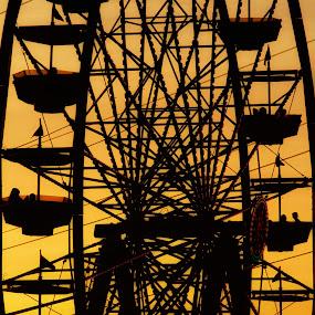 Sunset spin... by Brandon Chapman - City,  Street & Park  Amusement Parks