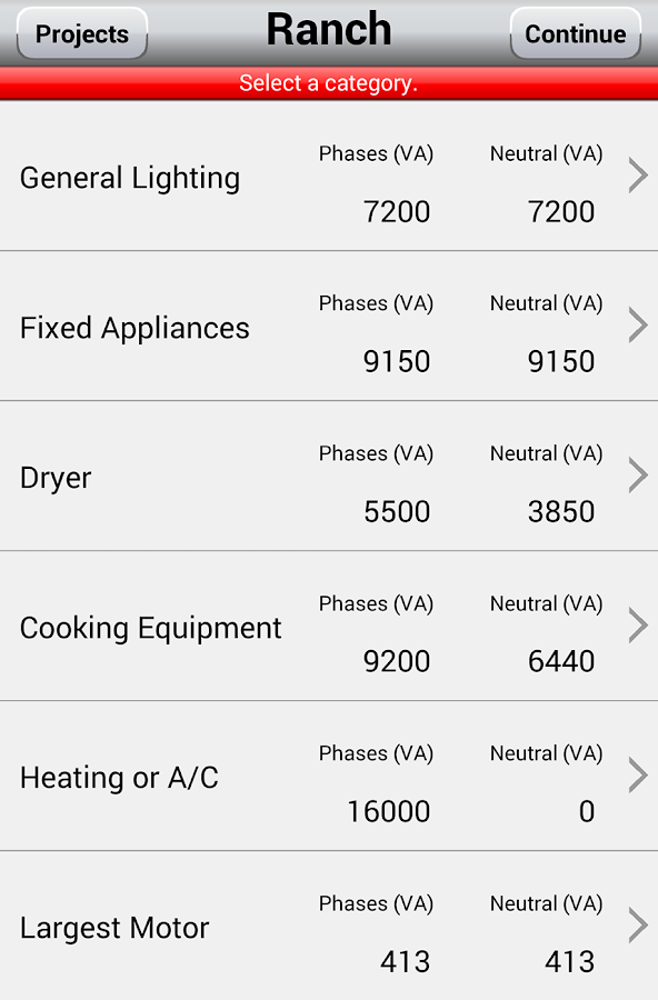 Worksheet Residential Electrical Load Calculation Worksheet electrical load calculator 14 android apps on google play screenshot