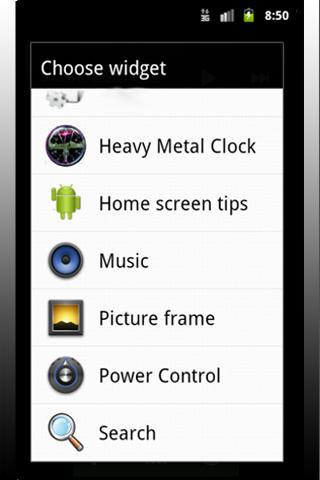 Heavy Metal Clock - screenshot