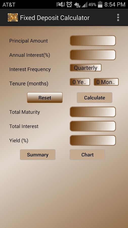 dena bank fixed deposit interest calculator