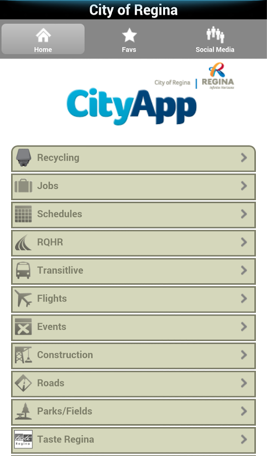 City of Regina CityApp- screenshot