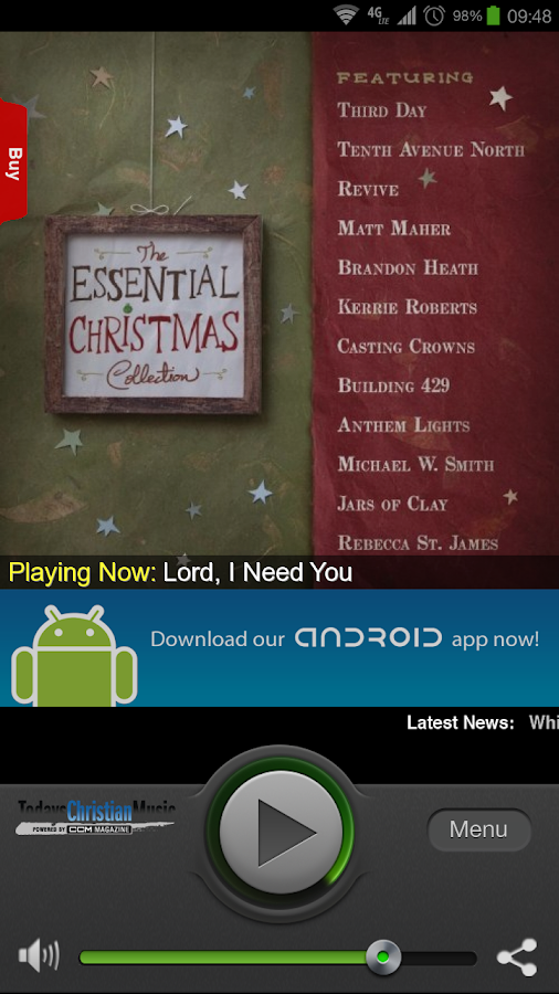 Today's Christian Music - screenshot