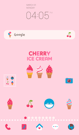 cherry ice cream dodole theme