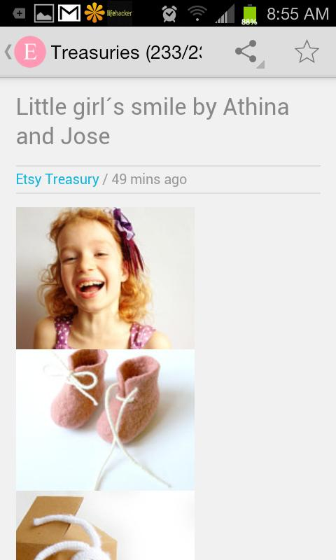 Etsy Treasures Keeper Lite - screenshot