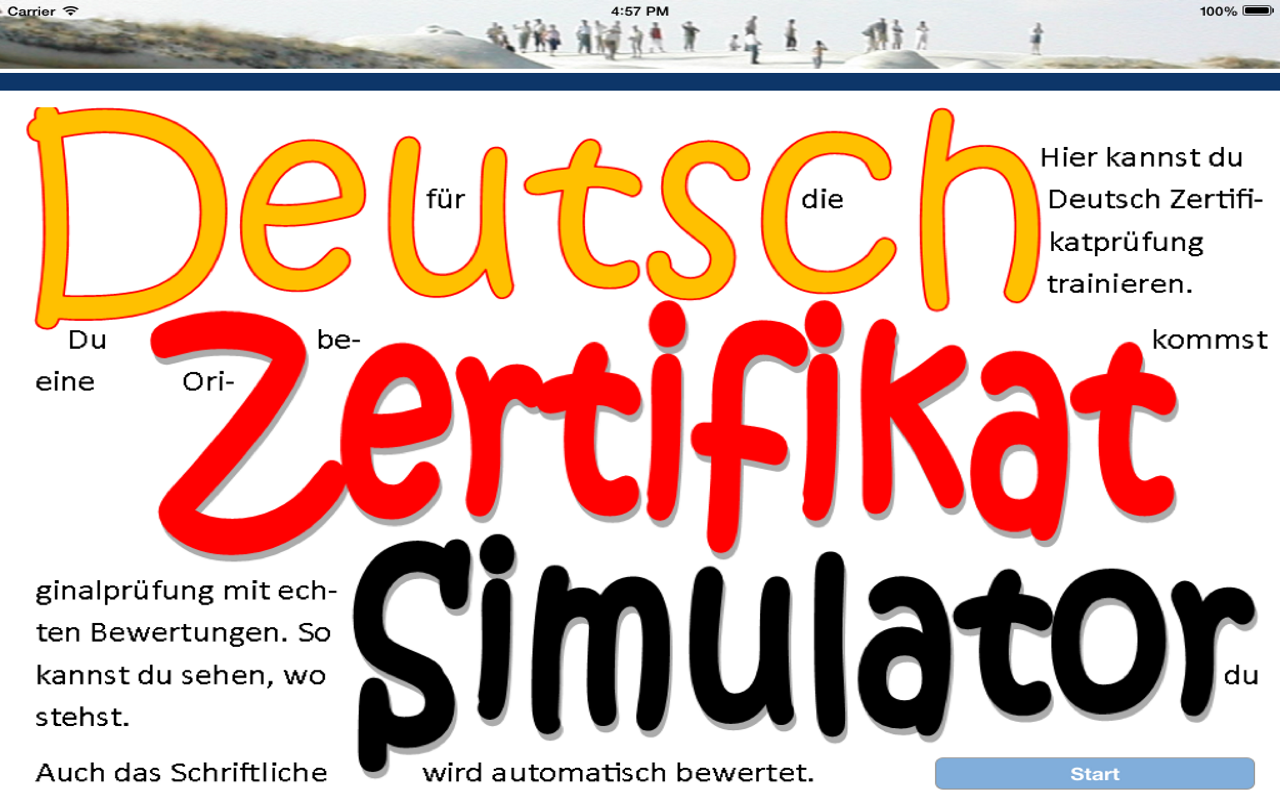Goethe Zertifikat Simulator- screenshot