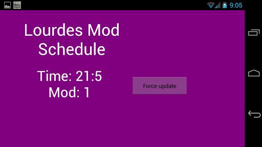 Lourdes Mod Schedule