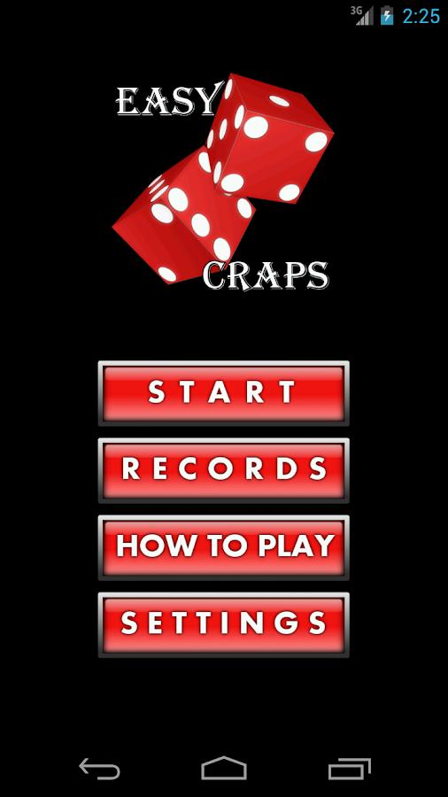 Easy six craps