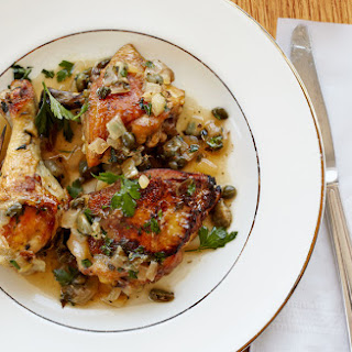Braised Chicken with Capers and Parsley.