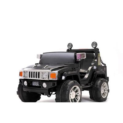 acheter 4x4 lectrique enfant 2 places hummer 12 volts 2 moteurs version luxe noir venette. Black Bedroom Furniture Sets. Home Design Ideas