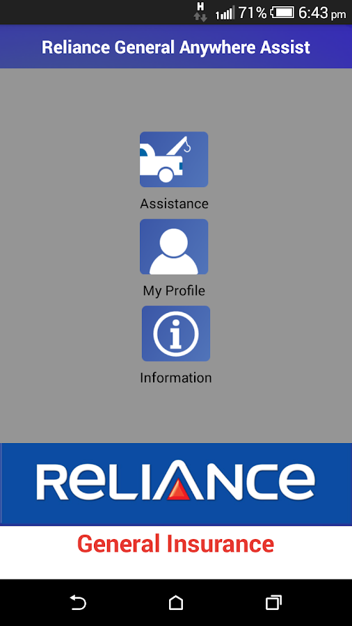 Reliance Anywhere Assist- screenshot