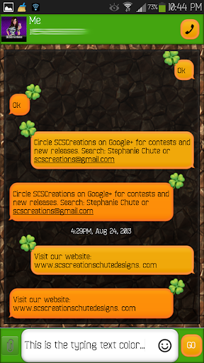 GO SMS - Shamrock 2