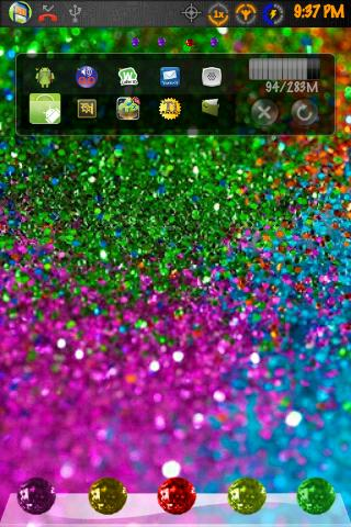 Go Launcher Theme GlitterGlam - screenshot