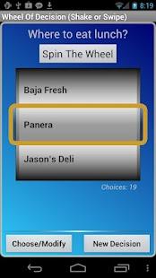 Wheel Of Decision- screenshot thumbnail