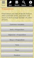 Screenshot of English Grammar – Preposition