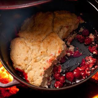 Campfire Cherry Cobbler.