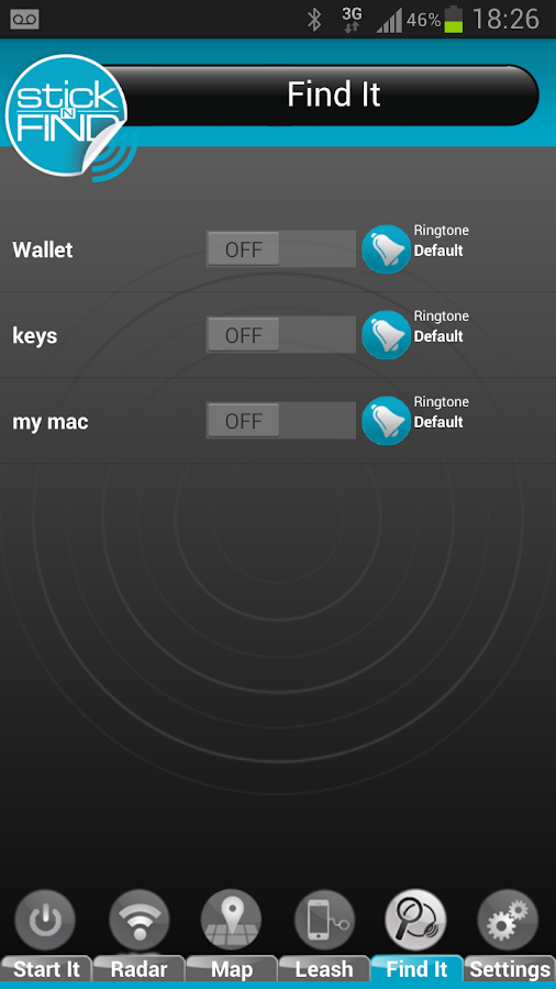 StickNFind - Samsung - screenshot