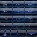 Dialer GlassMetalFrameBlue icon