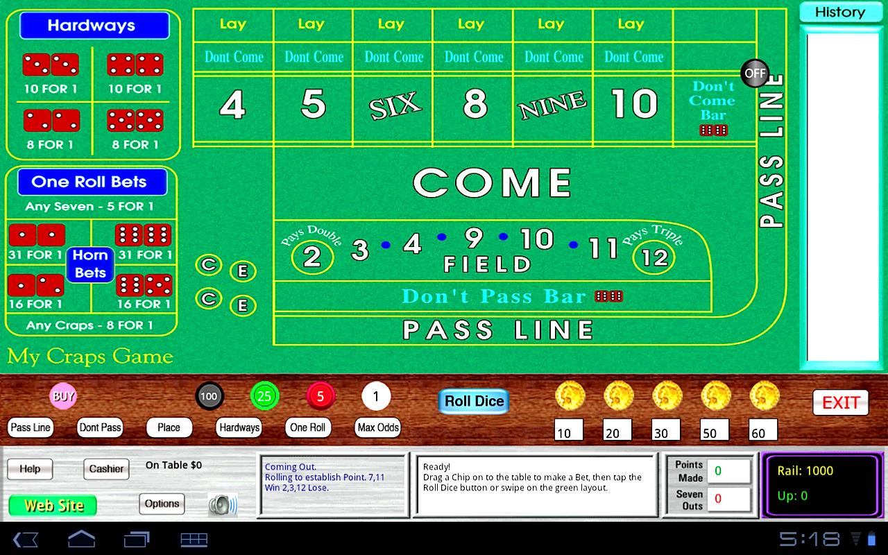 My Craps Game 1280x800 Tablet- screenshot