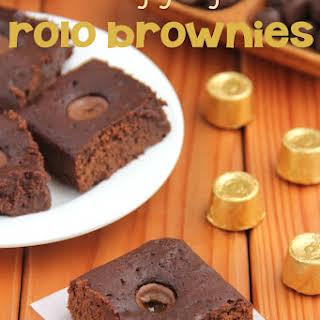 Ooey Gooey Rolo Brownies.