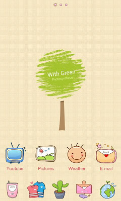 With GO Launcher Theme - screenshot