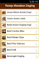 Screenshot of Resep Daging