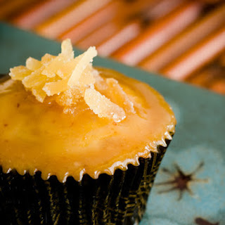 Ginger Pear Cupcakes with Miso Salted Caramel