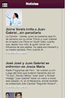 Screenshot of Juan Gabriel