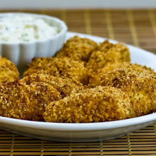 Whole Wheat Panko and Almond Crusted Oven-Baked Fish Sticks.