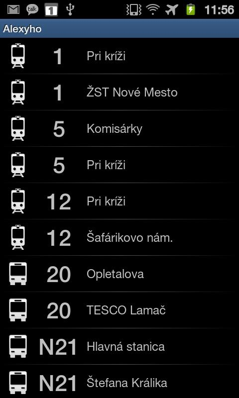 iTransit BA - screenshot