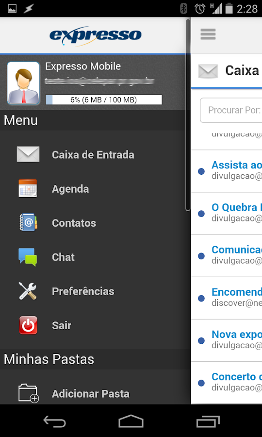 Expresso- screenshot