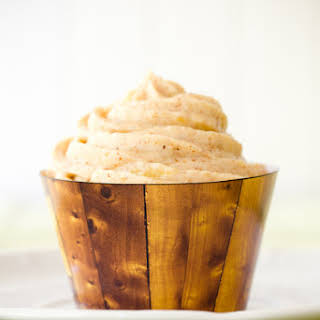 Hummingbird Cupcakes with Pineapple Almond Butter Cream Cheese Frosting.