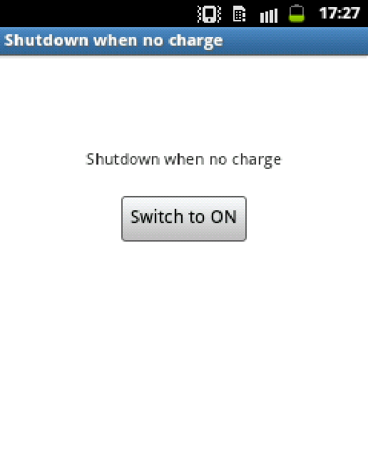 Auto ShutDown when no charge- screenshot