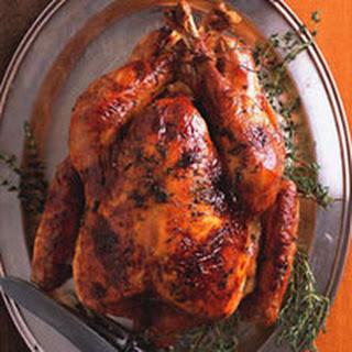 Maple-Glazed Roast Turkey with Apple Cider Gravy.