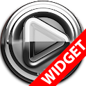 Poweramp widget Silver Glas icon