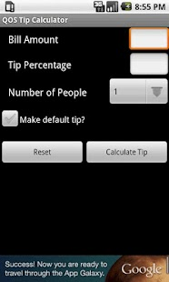 QOS Tip Calculator - screenshot thumbnail
