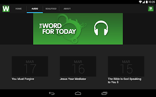 Screenshot of The Word For Today