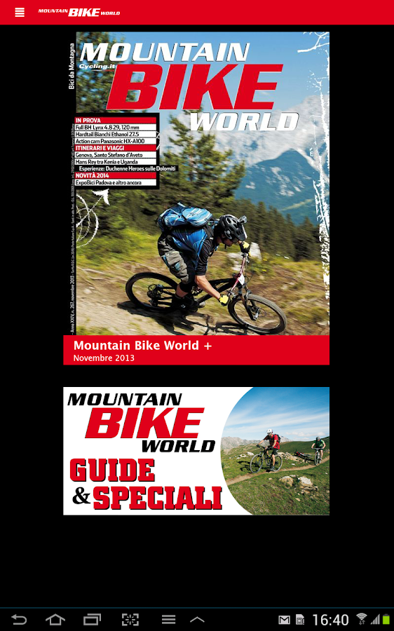 MOUNTAIN BIKE WORLD- screenshot
