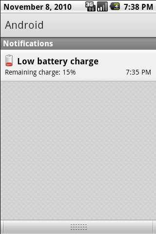 Battery Notifier - screenshot