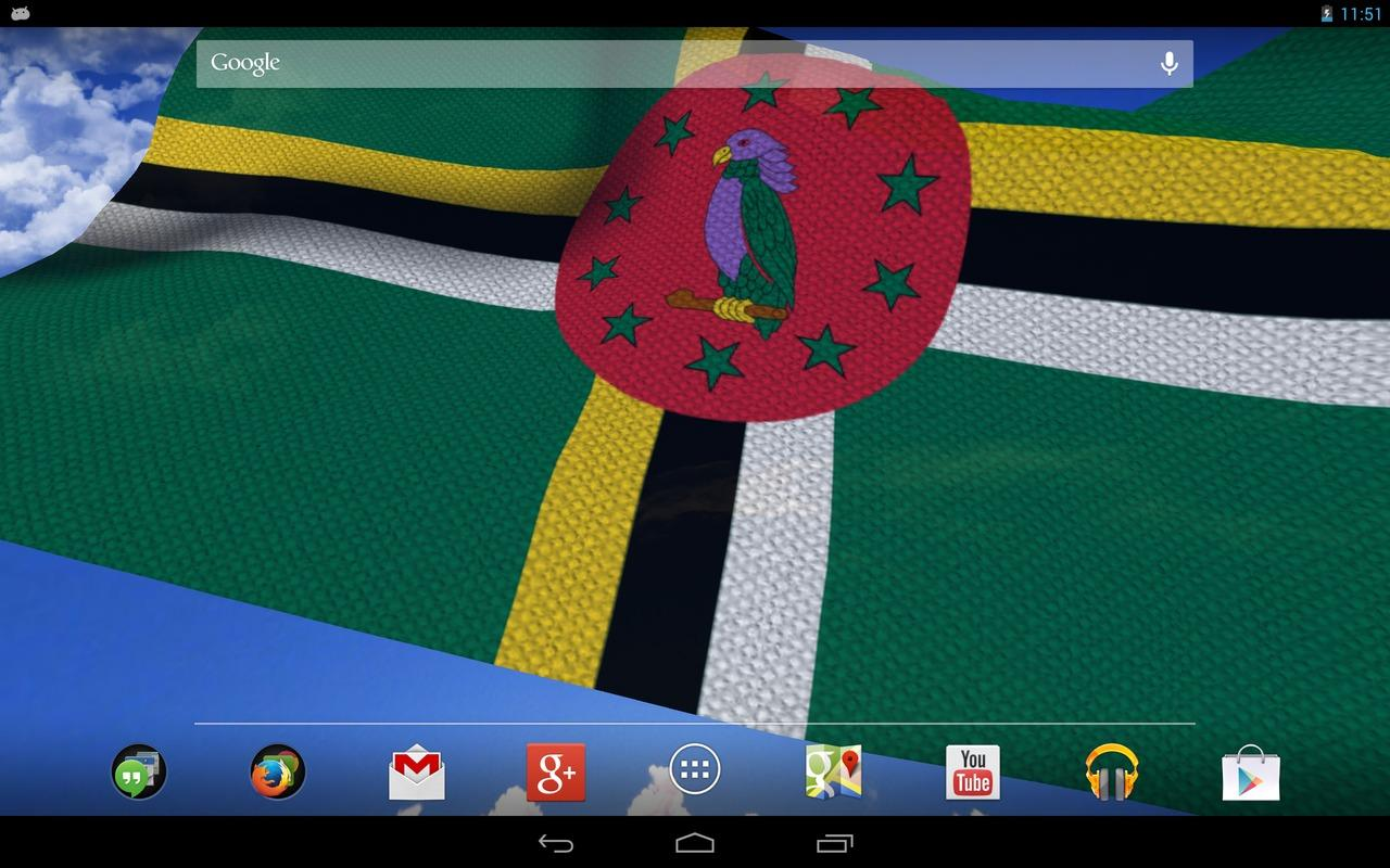 3D Dominica Flag LWP + - screenshot