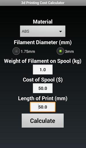 3d Print Cost Calculator No Ad