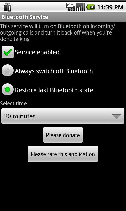 Bluetooth Service - screenshot