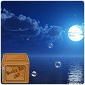 moon beach at night LWP icon