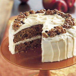 Apple Spice Cake with Walnuts and Currants