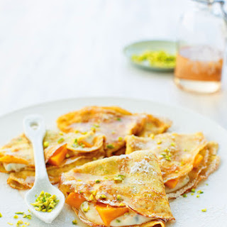 Ricotta-Filled CrêPes with Mango and Rose Syrup Recipe